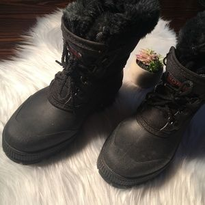 Sorel Womens Winter Boots With Liner And Fur Sz 6